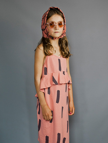 Jersey Squint Dress (Coral/Paintbrush) ( 4/5  last )