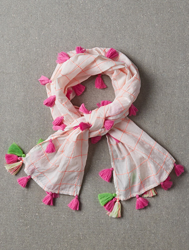 Katie Scarf Neon Check
