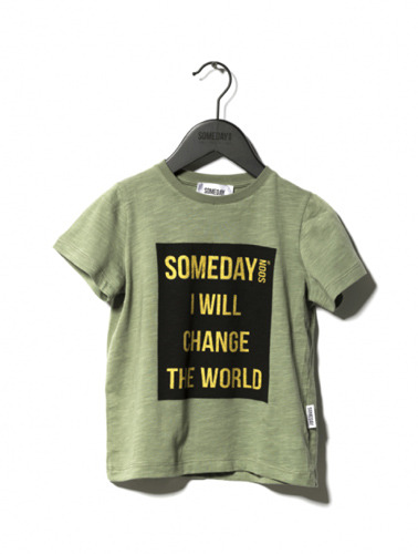 someday t-shirt green ( 8Y, 12Y )