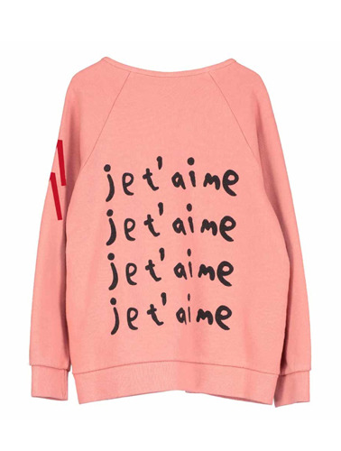 Zip Jacket (coral, Je t'aime)