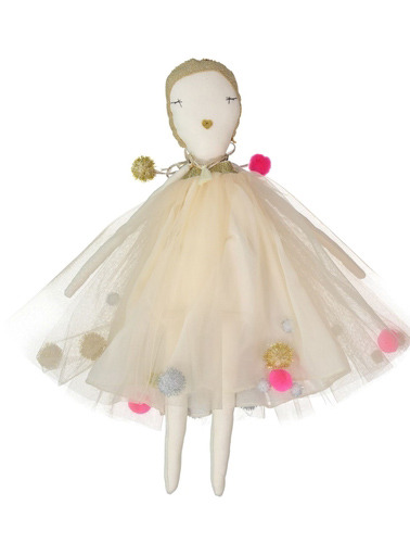 JESS BROWN + AETA DOLL - LES PONPOMS DRESS iN GOLD