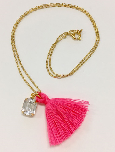 ROSE NECKLACE - DiAMOND (pink)