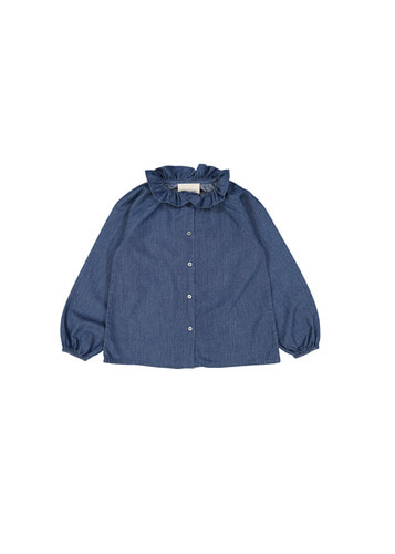 Tunic ANGELE KID chambray blue