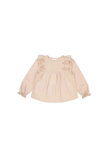 Tunic VANESSA KID small check lurex pink
