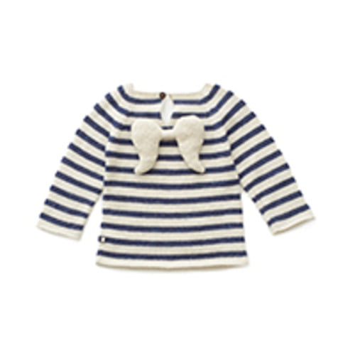 angel sweater indigo stripes