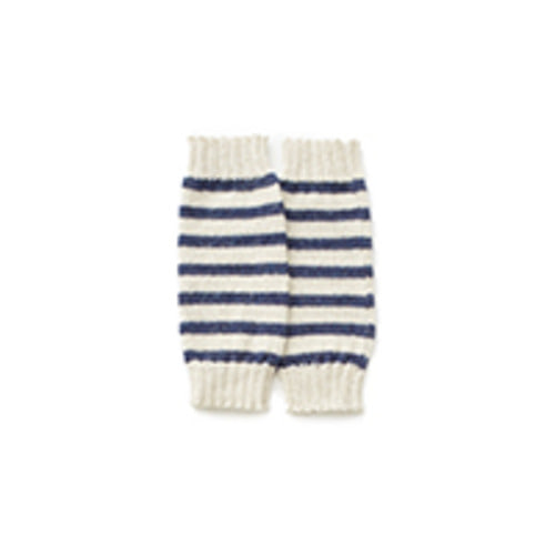 leg warmers indigo stripes