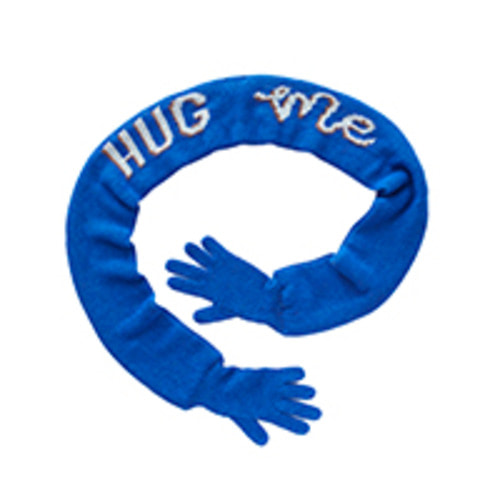 scarf hug me electricblue