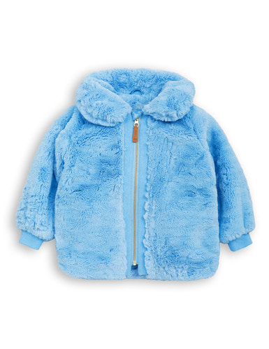 fur jacket light blue