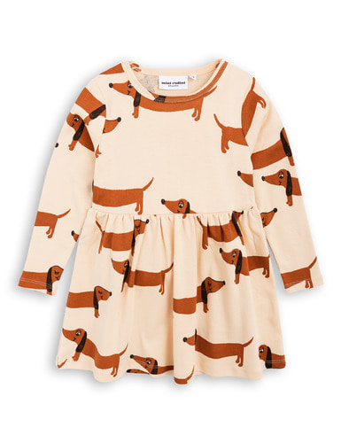 dog ls dress beige