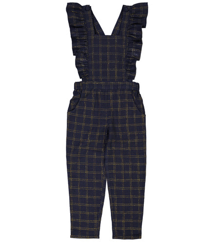 Overall CLEO KID check gold lurex navy ( 6Y, 8Y )