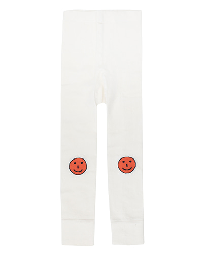 SS19-278 'HAPPY FACES' LEGGINGS off-white/red (6Y last)