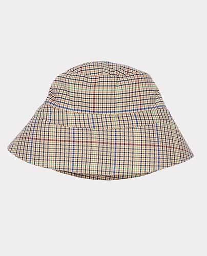 ADA HAT CHECK BEIGE (KIDS)