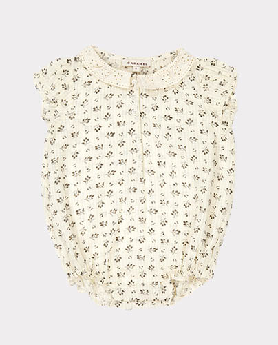 SILVERBELL BABY ROMPER DITSY CLOVER PRINT
