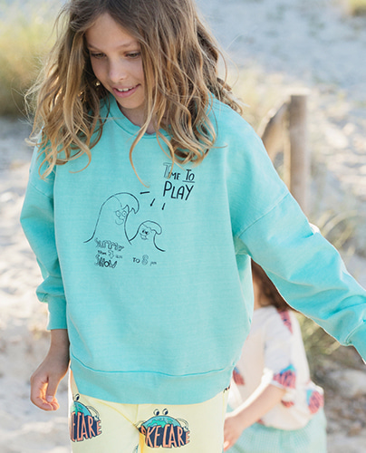 F-205 SWEATSHIRT POOL GREEN