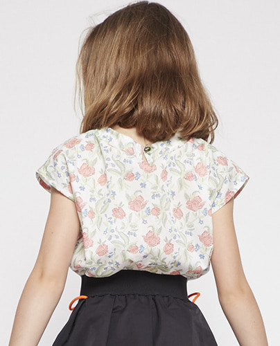 TEE SHIRT CLEM_OFF WHITE FLOWER (4Y last)