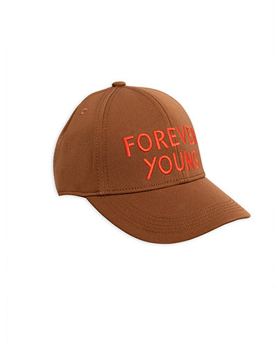 Forever young embroidery cap_Brown