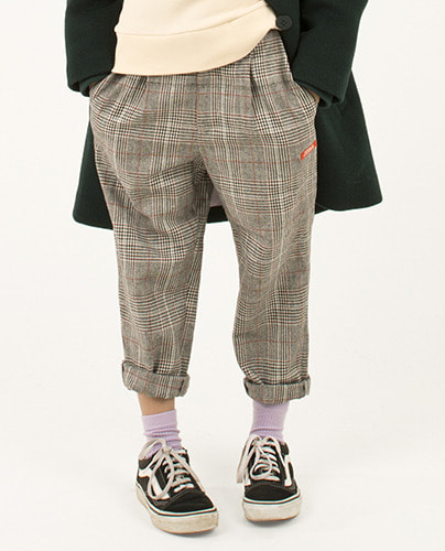 TWEED PLEATED PANT_multicolor ( 6Y last )