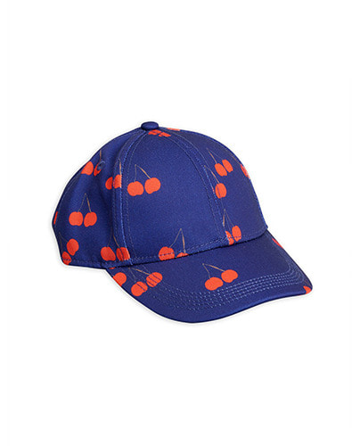 Cherry printed cap_Blue