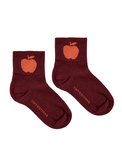 APPLE MEDIUM SOCKS_aubergine/red ( 4Y last )