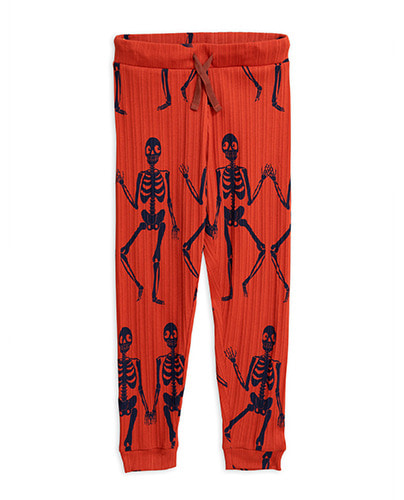 Skeleton aop trousers_Red