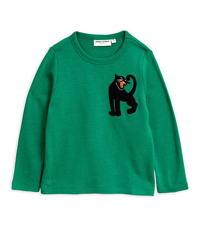 Panther wool terry sweatshirt_Green
