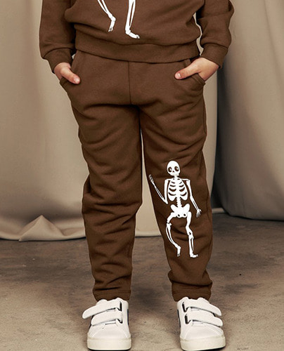 Skeleton sp sweatpants_brown