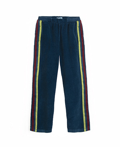 TROUSERS W/SIDE STRIPES_DEEP OCEAN ( 4Y ,6Y )