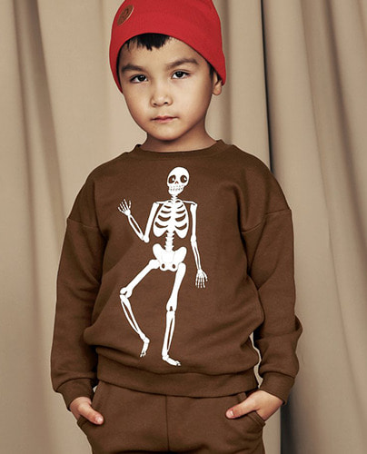 Skeleton sp sweatshirt_brown