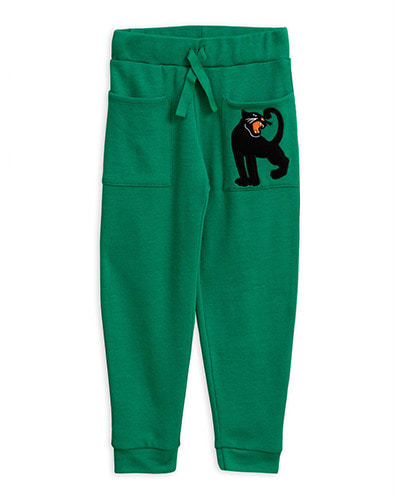 Panther wool terry trousers_Green