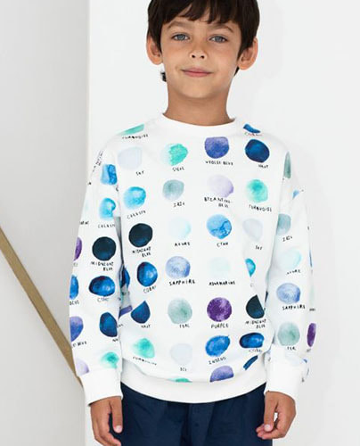 Relaxed Fit Sweater Paint Palet Dots