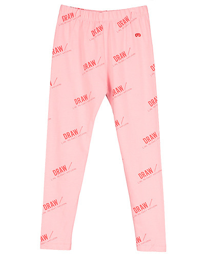 Leggings Washed Pink Draw Red