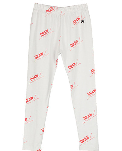 Leggings Quiet Grey Draw Red ( 6-7Y last )