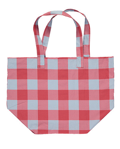 Canvas Bag Gingham Red