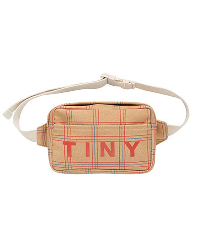 """CHECK"" FANNY BAG_toffee"
