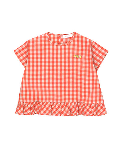 """TINY"" FRILL VICHY BLOUSE_red"