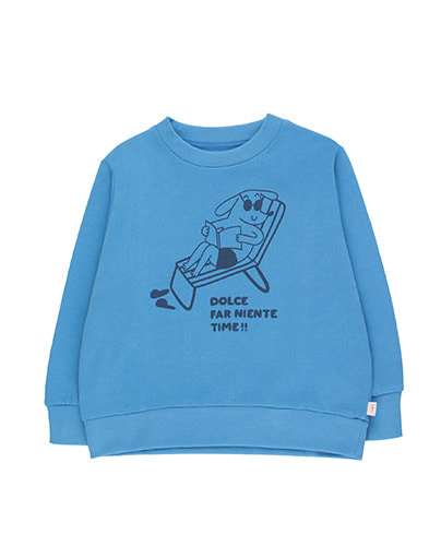 """READING DOG"" SWEATSHIRT_cerulean blue ( 2Y last )"
