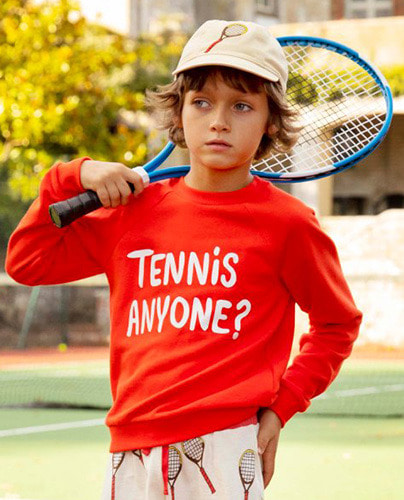 Tennis anyone sp sweatshirt_Red