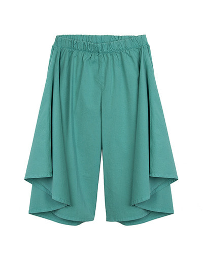 WIDE-LEG PANTS_EMERALD ( 8Y, 10Y )