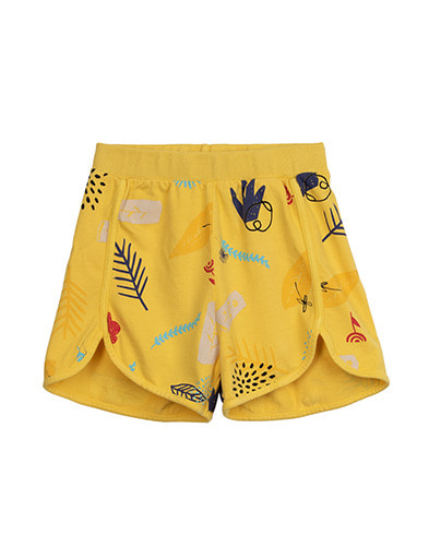 PRINTED SPORTY SHORTS_NATURE_DAISY
