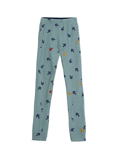 PRINTED LEGGINGS_SWALLOW_STONE ( 4Y, 6Y )