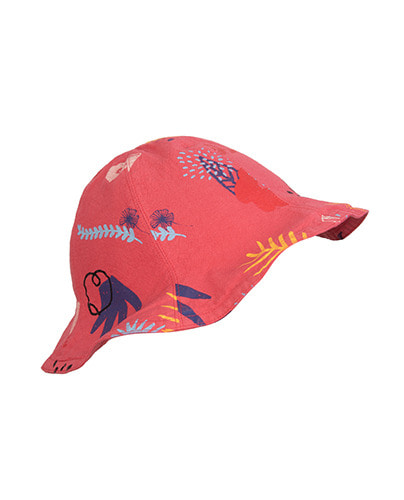 REVERSIBLE HAT_NATURE + SWALLOW_MAGENTA