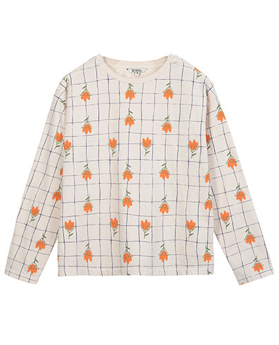 PRINTED LONG SLEEVE_FLOWERS_NEUTRAL