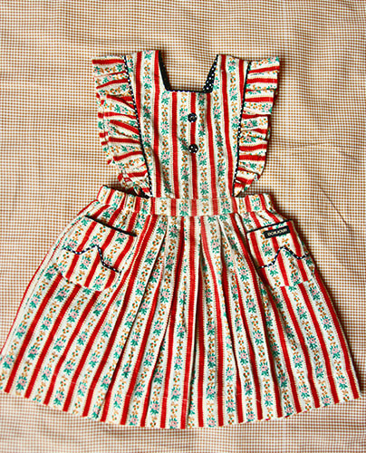 Apron Dress_Wall paper stripe