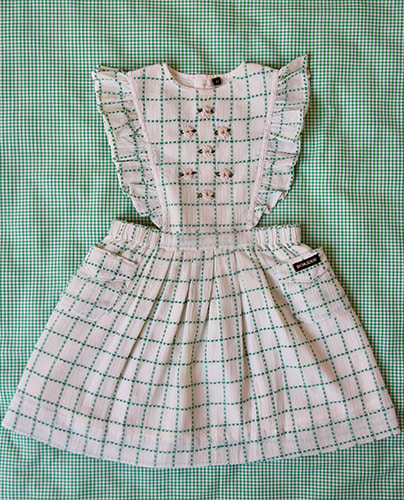 Apron Dress_green check
