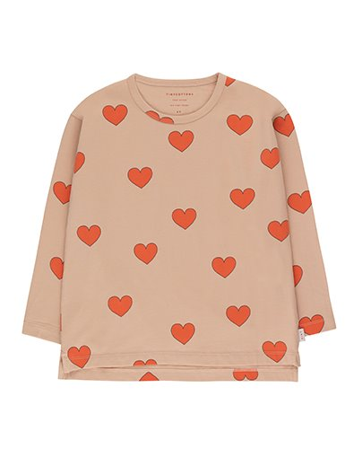 """HEARTS"" TEE_light nude ( 2Y, 10Y )"