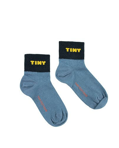 """TINY"" QUARTER SOCKS_sea blue ( 8Y last )"