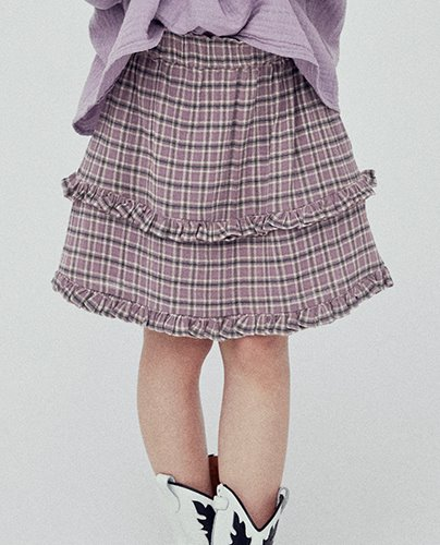 BELLA SKIRT_CHECK LAVANDA ( 8Y, 10Y )