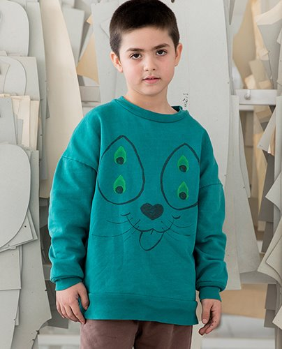 CATPOWER SWEATSHIRT_Alpine Green ( 2Y, 8Y )