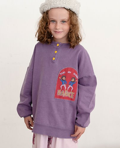 TAKE MY HAND SWEATSHIRT_Purple Sage