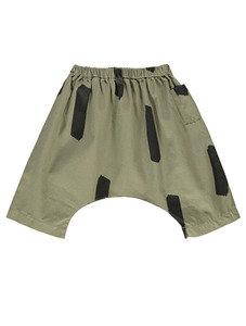 Cotton Oversized Pocket Pants (Olive Green/Paintbrush)